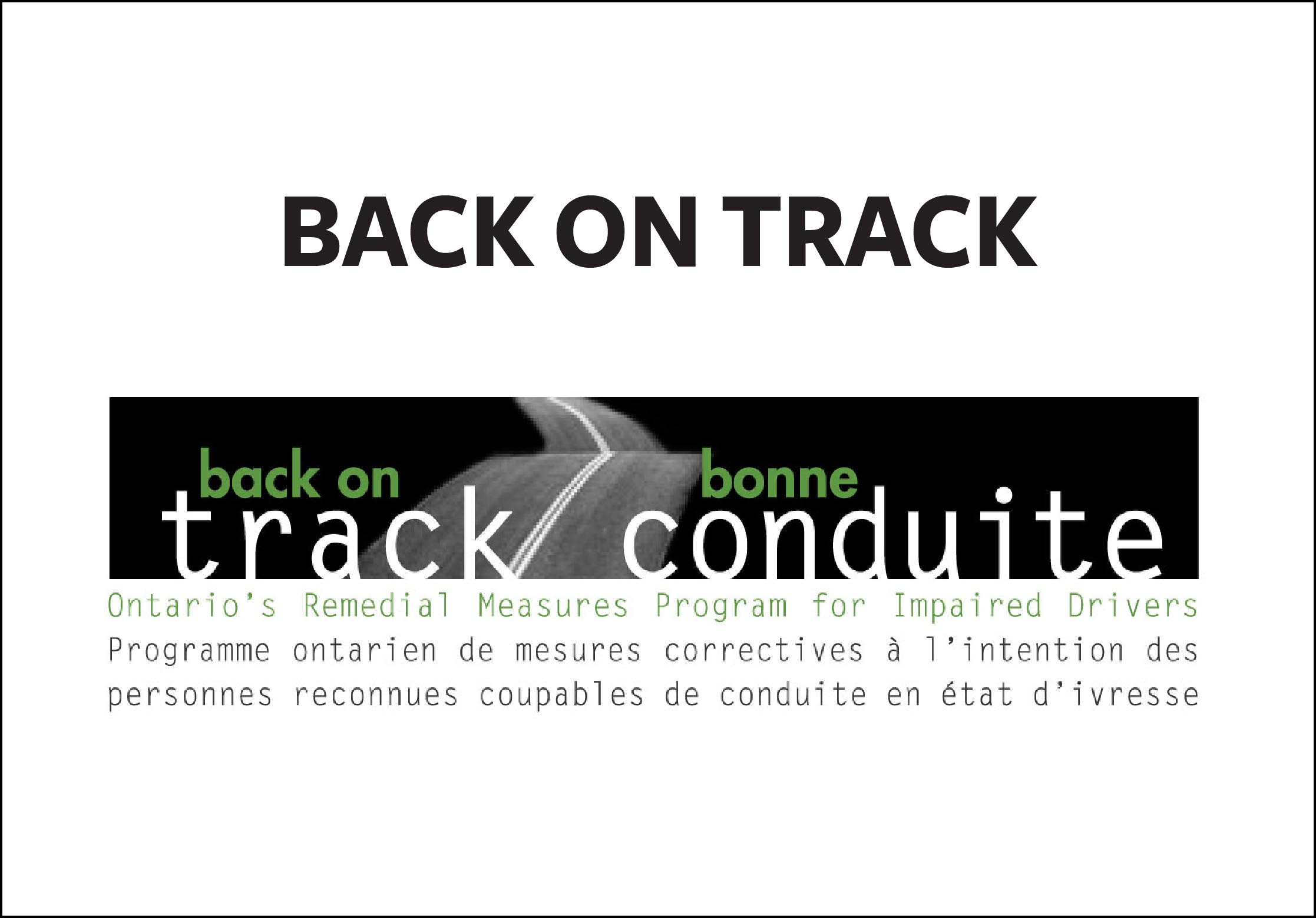 Link to Back on Track Program for Impaired Drivers page