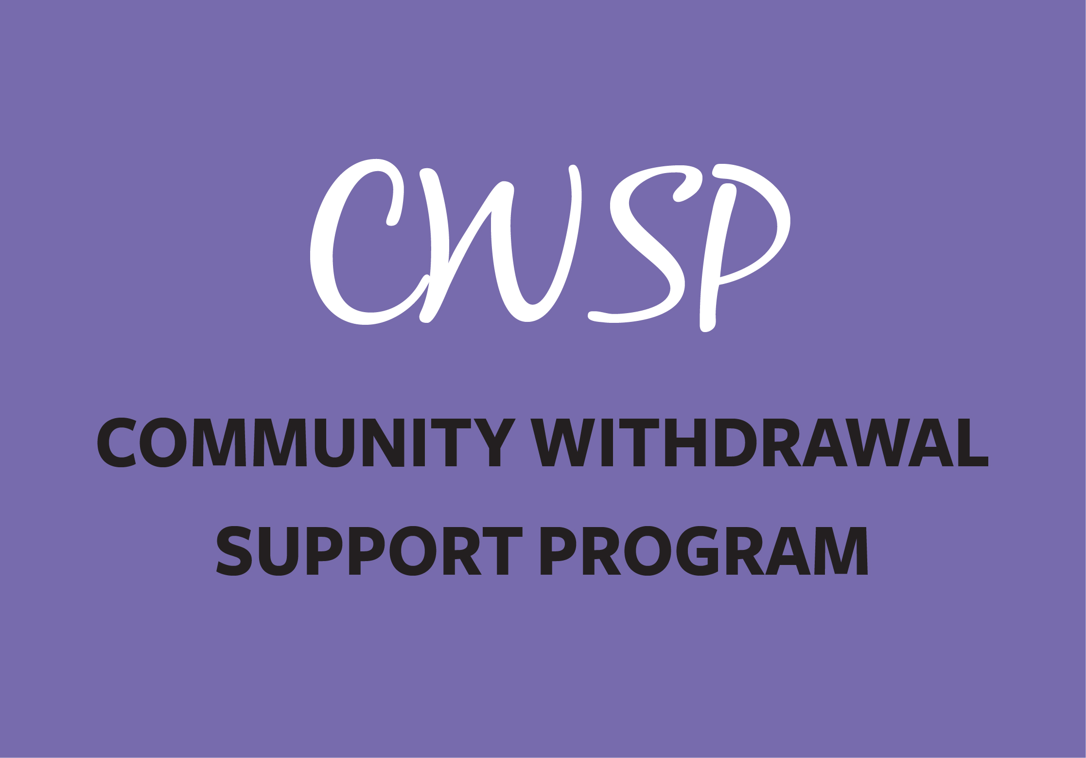Link to Community Withdrawal Support Program page